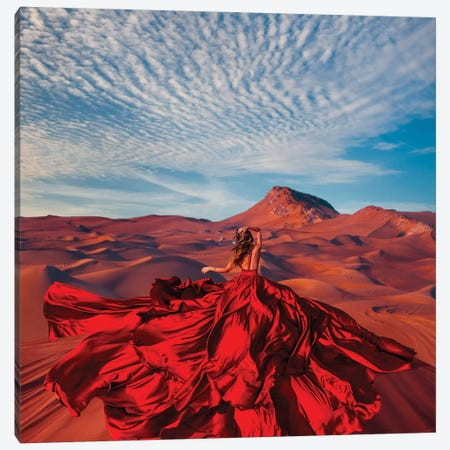 Bud Of The Desert Canvas Print #MKV19} by Hobopeeba Canvas Art