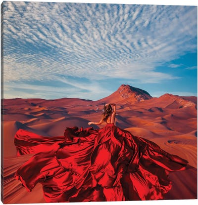 Bud Of The Desert Canvas Art Print