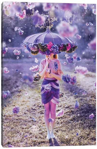 Flower's Rain Canvas Art Print