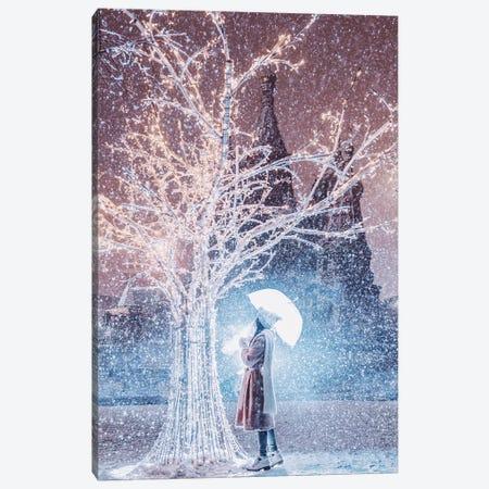 Magic Snowfall In Moscow Canvas Print #MKV59} by Hobopeeba Canvas Art