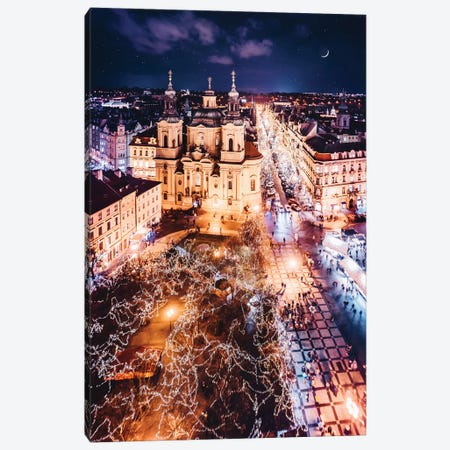 Misty And Magic Prague Canvas Print #MKV62} by Hobopeeba Canvas Print