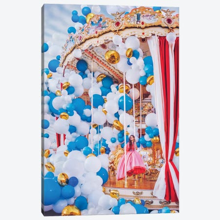 Moscow Carousel Canvas Print #MKV65} by Hobopeeba Canvas Artwork