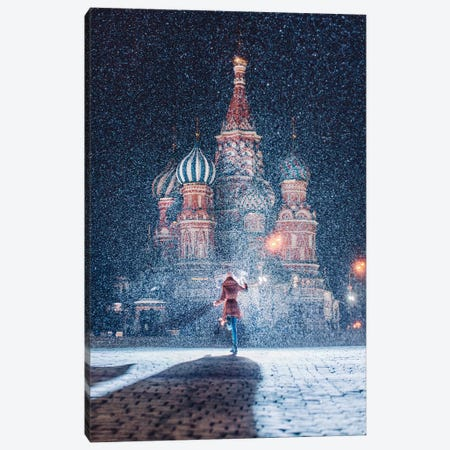 Moscow Like Fairytale Canvas Print #MKV66} by Hobopeeba Canvas Wall Art