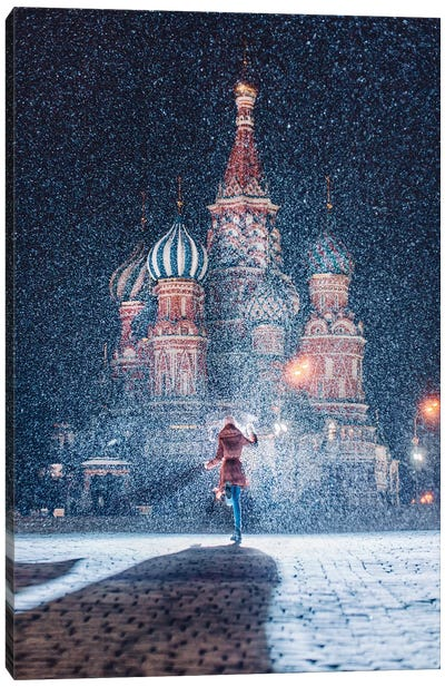 Moscow Like Fairytale Canvas Art Print