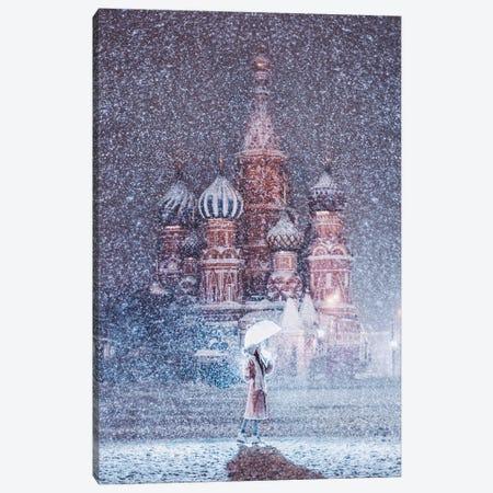 Moscow Snowfall Canvas Print #MKV67} by Hobopeeba Canvas Artwork