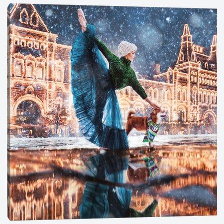 Moscow Winter Canvas Print #MKV68} by Hobopeeba Canvas Art Print