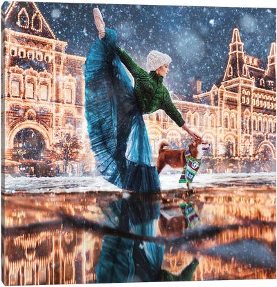 Moscow Winter Canvas Art Print