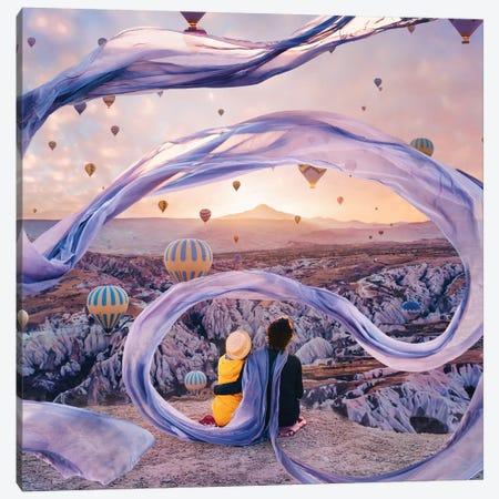 My Wizard In A Silk Scarf 3-Piece Canvas #MKV72} by Hobopeeba Canvas Art
