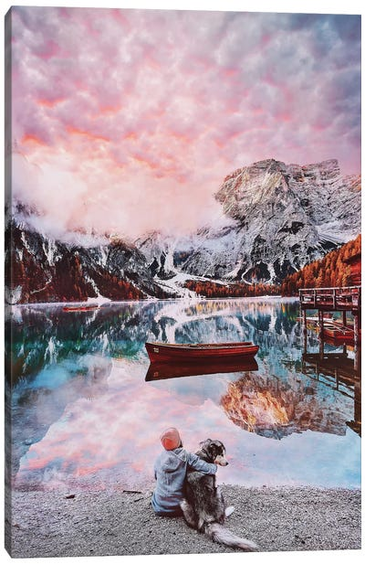 One Beautiful Moment On Lago Di Braies Canvas Art Print
