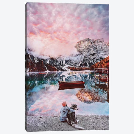 One Beautiful Moment On Lago Di Braies Canvas Print #MKV79} by Hobopeeba Canvas Wall Art