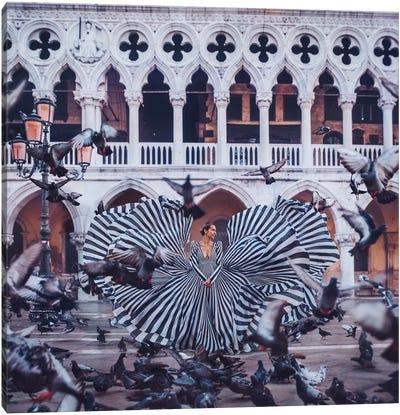 Pigeons Canvas Art Print