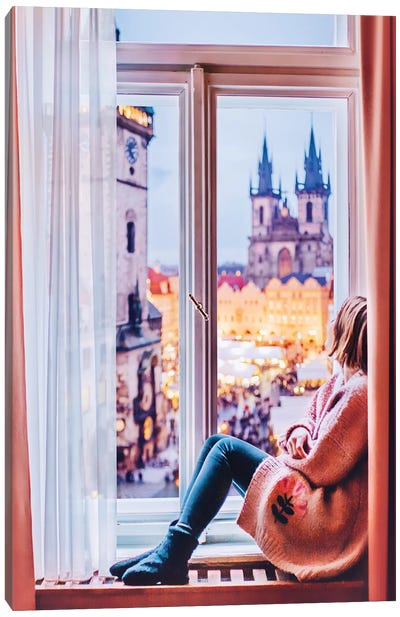 Prague View Canvas Art Print