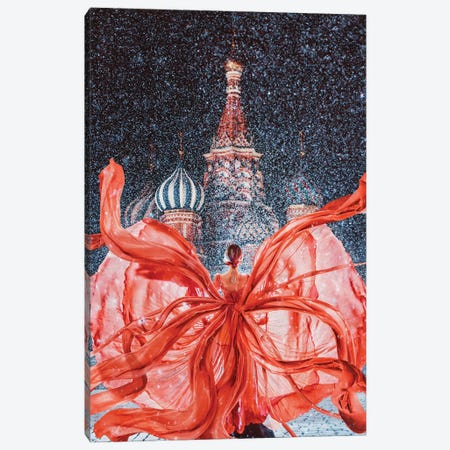 Red-Red-Red Red Square Canvas Print #MKV86} by Hobopeeba Canvas Artwork