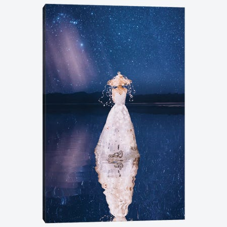 Sea And Lights. Warm Evening Canvas Print #MKV89} by Hobopeeba Canvas Art Print