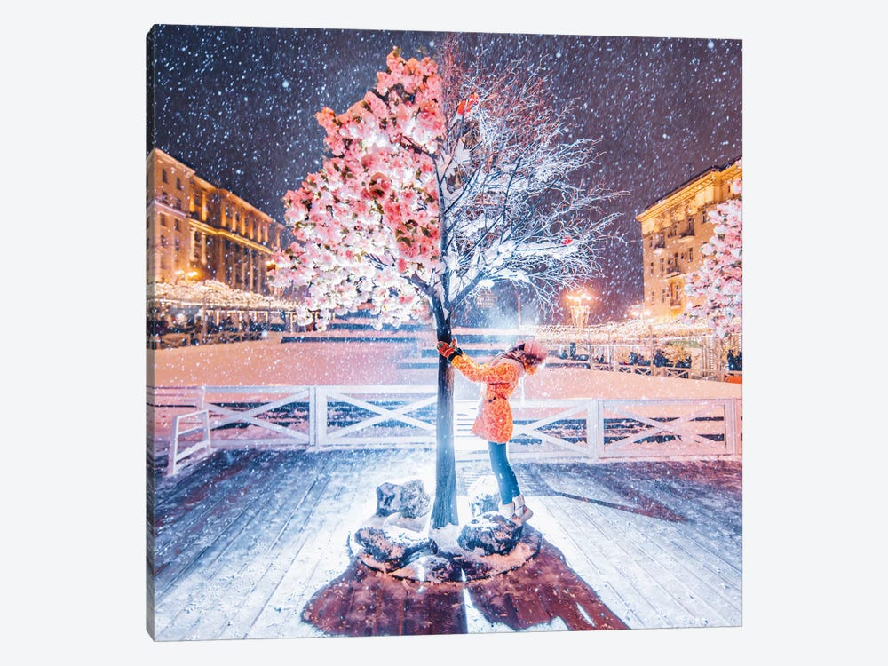 Spring-Winter Tree by Hobopeeba 1-piece Art Print