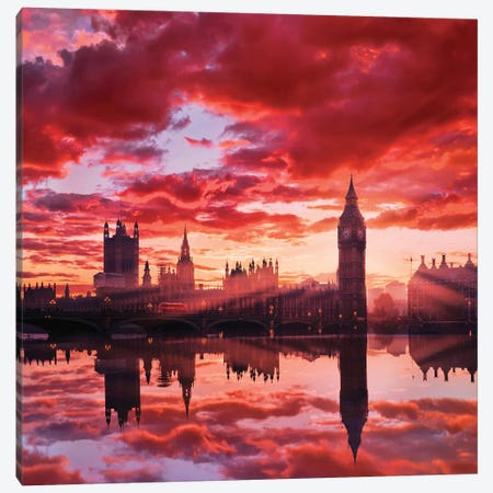 Sunny Big Ben Canvas Print #MKV97} by Hobopeeba Art Print