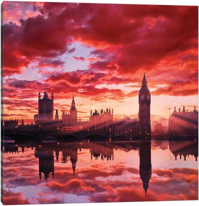 Sunny Big Ben Canvas Art Print