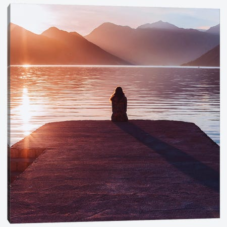 Sunset Is The Most Important! Canvas Print #MKV99} by Hobopeeba Canvas Wall Art