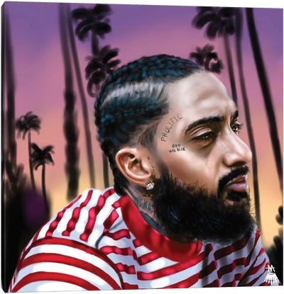 Nipsey Hussle / West Coast Canvas Art Print