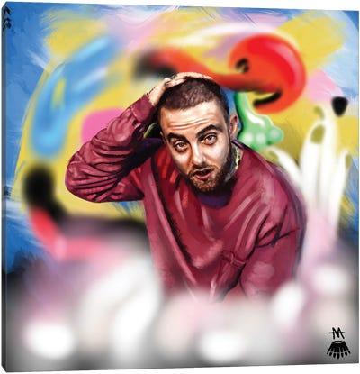 Mac Miller / Faces Canvas Art Print