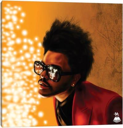 The Weeknd / Blinding Lights Canvas Art Print