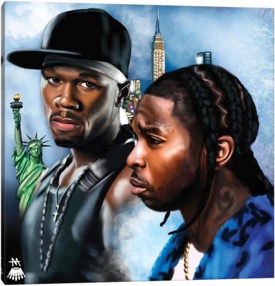 Pop Smoke, 50 Cent / Legends Canvas Art Print