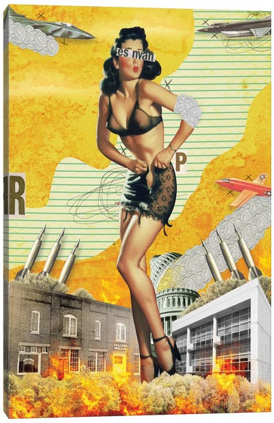 Pinup #2 Canvas Art Print