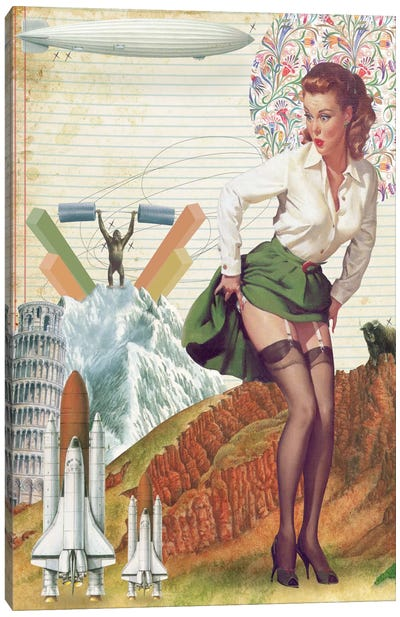 Pinup #4 Canvas Art Print