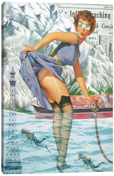 Pinup #8 Canvas Art Print
