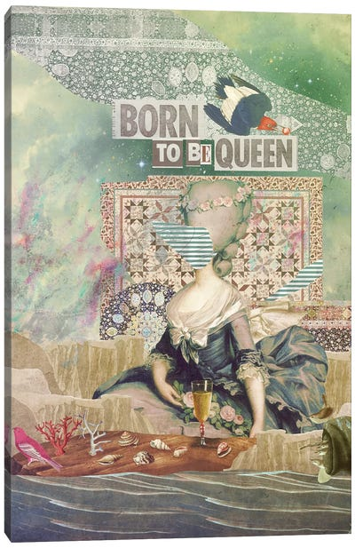 Born To Be Queen Canvas Art Print