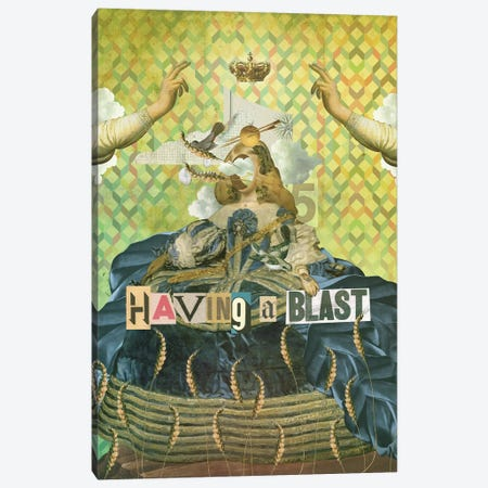 Having A Blast Canvas Print #MLA29} by Marcel Lisboa Canvas Print