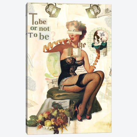 To Be Or Not To Be Canvas Print #MLA38} by Marcel Lisboa Canvas Art