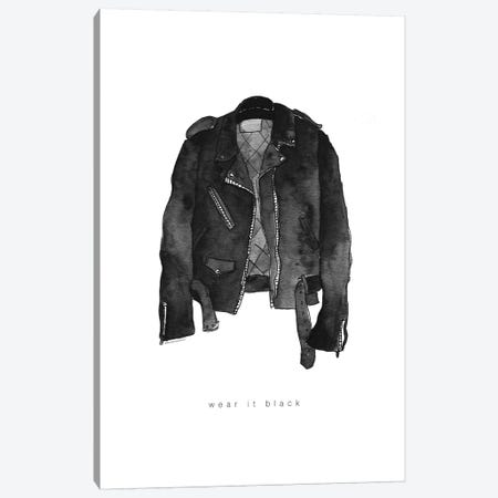 Leather Jacket Canvas Print #MLC100} by Mercedes Lopez Charro Canvas Art Print