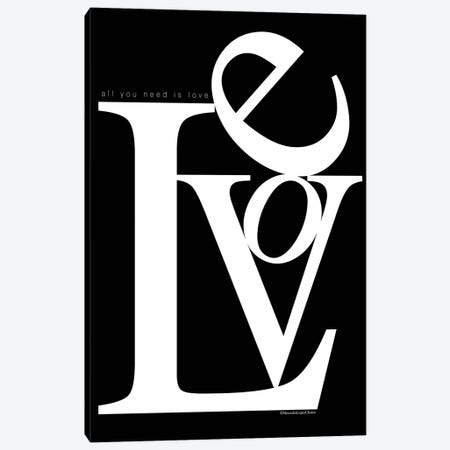 Love Stacked Canvas Print #MLC104} by Mercedes Lopez Charro Canvas Artwork