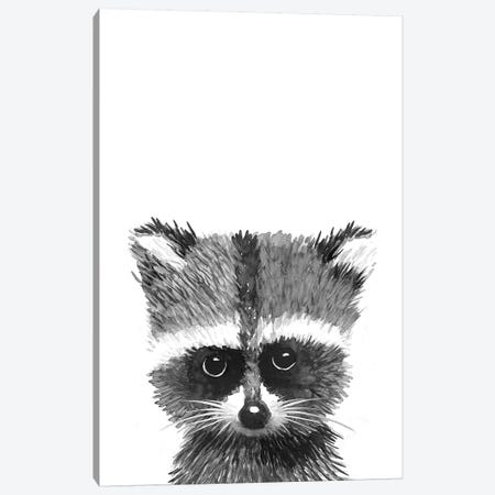 Racoon Canvas Print #MLC105} by Mercedes Lopez Charro Canvas Art