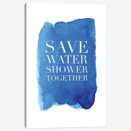 Shower Together Canvas Print #MLC107} by Mercedes Lopez Charro Canvas Art
