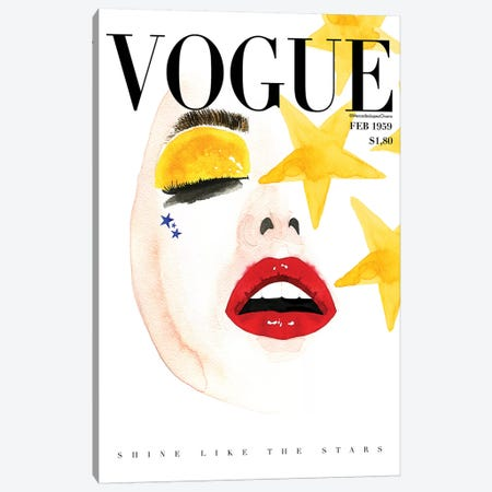 Vogue Shine Canvas Print #MLC109} by Mercedes Lopez Charro Canvas Print