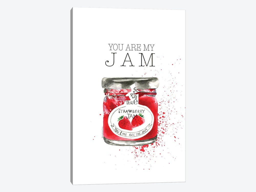 You Are My Jam by Mercedes Lopez Charro 1-piece Canvas Print