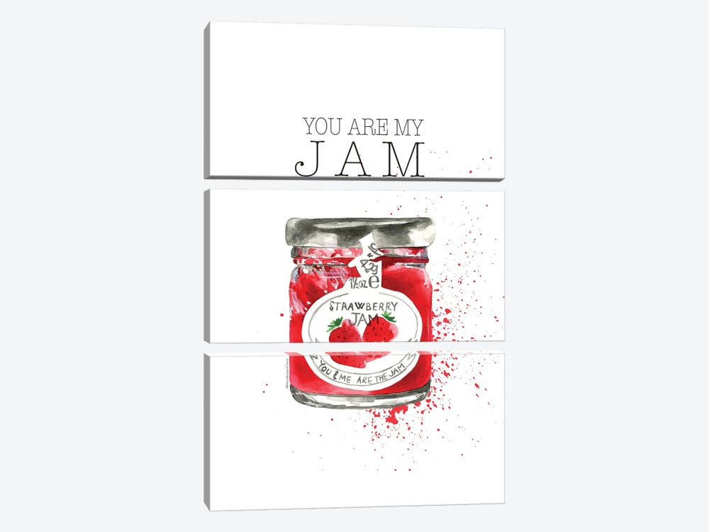 You Are My Jam by Mercedes Lopez Charro 3-piece Canvas Art Print
