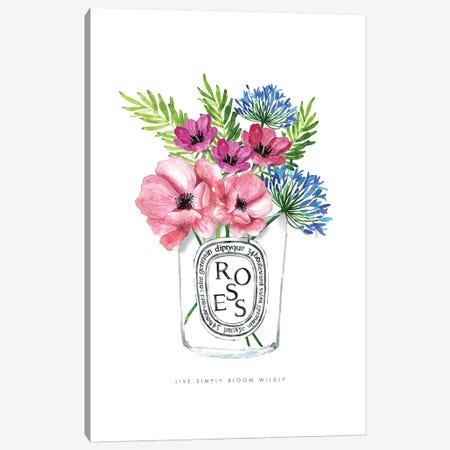 Diptyque Florals Canvas Print #MLC117} by Mercedes Lopez Charro Canvas Print