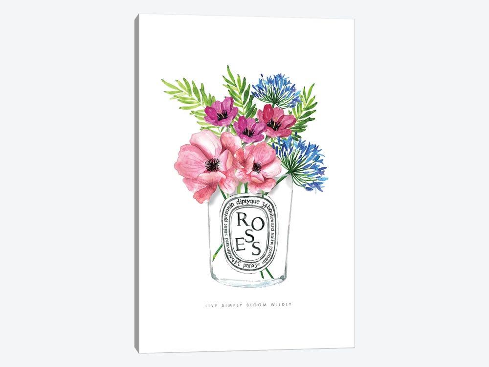 Diptyque Florals by Mercedes Lopez Charro 1-piece Canvas Print