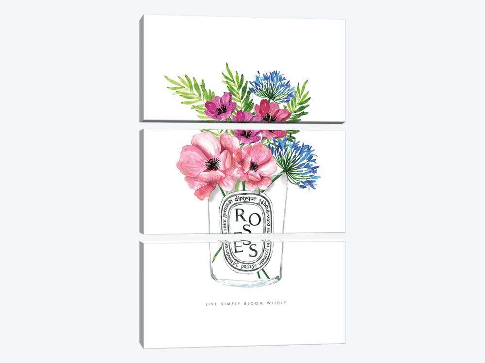 Diptyque Florals by Mercedes Lopez Charro 3-piece Canvas Art Print