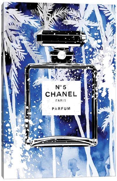 Blue Palms Chanel Canvas Art Print