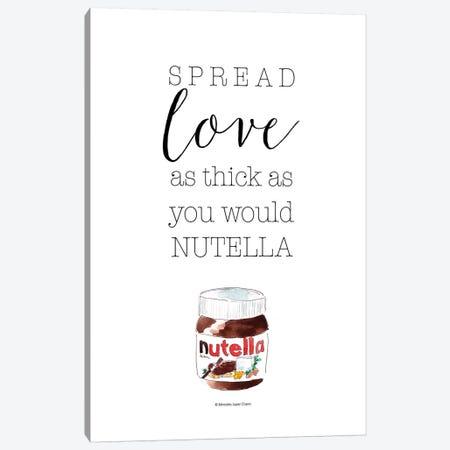Spread Love Nutella Canvas Print #MLC121} by Mercedes Lopez Charro Art Print