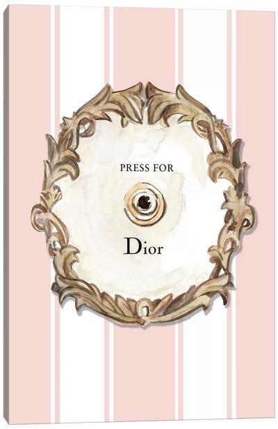 Press For Dior Canvas Art Print