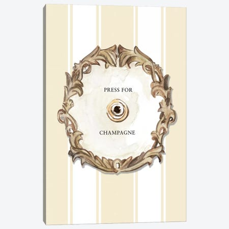 Press For Champagne (Cream) Canvas Print #MLC124} by Mercedes Lopez Charro Canvas Artwork
