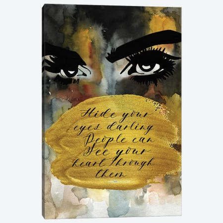 Cara Hide Your Eyes Canvas Print #MLC12} by Mercedes Lopez Charro Canvas Wall Art