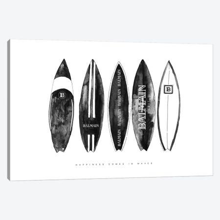 Balmain Surfboads 3-Piece Canvas #MLC132} by Mercedes Lopez Charro Canvas Art