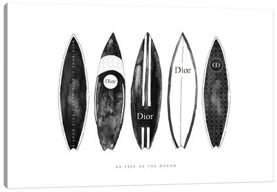 Dior Surfboards Canvas Art Print