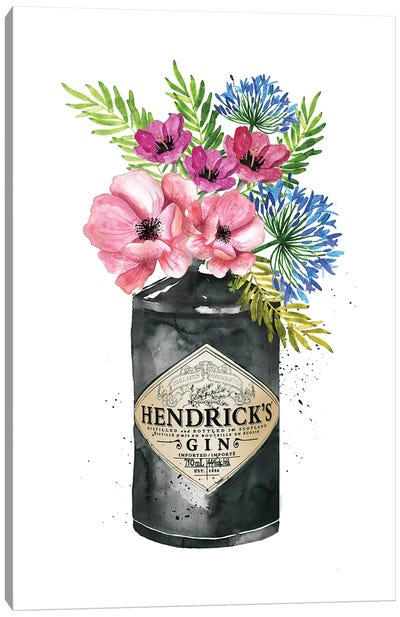 Hendricks Pink Flowers Canvas Art Print